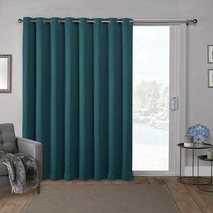 Exclusive Home Curtains Sateen Teal 100x84 Twill W